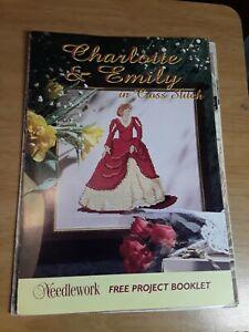 Needlework Charlotte & Emily 1800's Dresses Ladies Cross Stitch Charts