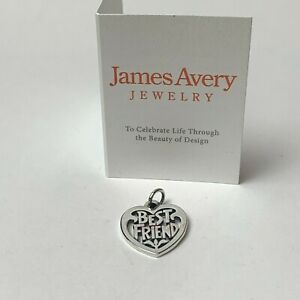 James Avery Sterling Silver Best Friend Heart 925 JA Sterling
