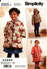 Simplicity Sewing Pattern 8305 Girls Coat and Jacket Size 3-8 Dottie Angel