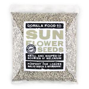 Gorilla Food Co. Sunflower Seeds Edible - 200g-6.4kg (Great value £ per 1kg)