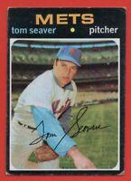 1971 Topps #160 Tom Seaver VG-VGEX+ Reds New York Mets HOF FREE SHIPPING