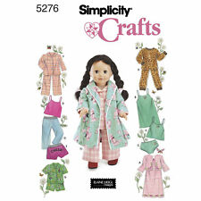 "Simplicity SEWING PATTERN 5276 Night Clothes For 18"" Fashion Dolls"