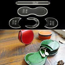 Klar Acryl Brieftasche Muster Schablone Vorlage Set Leder Handwerk DIY Staz
