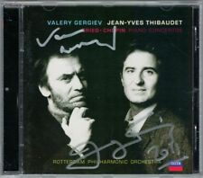 Jean-Yves THIBAUDET, Valery GERGIEV Signed GRIEG CHOPIN Piano Concerto Autogramm