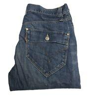 LEVIS Engineered Twisted Mens Dark Blue W31 L34 Jeans (G422)