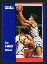 Jeff Turner #332 signed autograph auto 1991-92 Fleer Basketball Trading Card