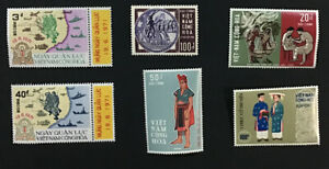 1965-1971 Vietnam VF MNH Set & Partial Sets Sc# 252,357,369,373,394-95, $32 +