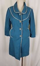Tulle Anthropologie Mod GoGo All Weather Trench Coat Womens L Turquoise Blue