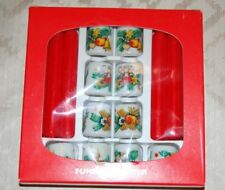 Vintage Funny-Leuchter Set 10 Candle Holders with Original Candles and Package