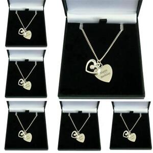 Engraved Heart With Open Heart Necklace Free Engraving on Pendant, Engraved Gift