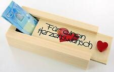 """Geldgeschenkverpackung """"Für einen Herzenswunsch"""" / ideales Geburtstagsgeschenk"""