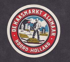 Ancienne petite étiquette  fromage  Hollande  BN19656 Homme Gouda