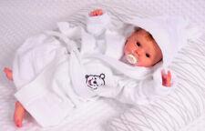 Bademantel mit Kapuze Frottee Baby Kinder Kapuzenbademantel 62 68 74 80 86 weiß