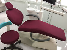 Dental Unit Cover Cloth Dentist Chair Protector Sleeves Washable Wine Red Color
