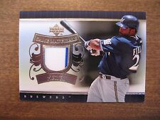 2007 Upper Deck Prince Fielder Game Materials Jersey 2-Color UD-PF Brewers