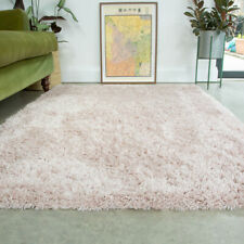 Light Pink Shaggy Rug 4.5cm Thick Anti Shed Blush Living Room Shaggy Area Rugs