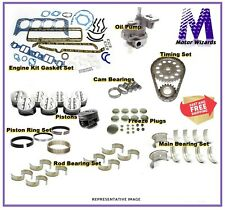 MERCRUISER Chevy GM 350 V8 5.7 Marine Engine Rebuild Kit w/Pistons - STD Rot 1PC