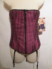 25978 - Shirley of Hollywood, Corset, Black/Pink stripe, Size 32B/C