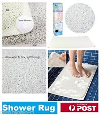 Shower Rug Bathmat Aqua Rug HYDRO Anti Slip Drain Away Shower Mat Non Slip
