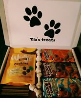 Dog Hamper Pet Selection Gift Box Snacks Chocolate BarsTreats Personalised