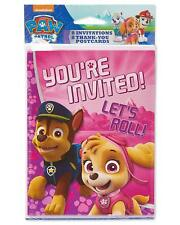 Paw Patrol 8 Invitations and Thank You Postcards Combo Pack Nickelodeon