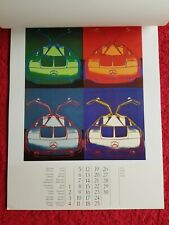 More details for andy warhol cars mercedes calendar 1989 pop art in rare box and sleeve