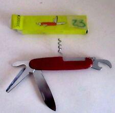 Coltellino svizzero multiuso apribottiglia portachiavi rosso tools vintage