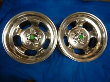 Polished 15x7 Ansen Slot Mag Wheels Ford Dodge Mags Mopar Rt Mustang Torino Gt