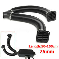 75mm Diesel Heater Duct Pipe Warm Air Outlet Vent For Webasto Eberspacher Black