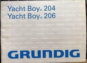 Original GRUNDIG Manual ~ YACHT BOY 204 / 206 Radio