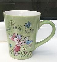 Disney Piglet Mug. Store Exclusive. Piglet In Relief. Green 11 Cm