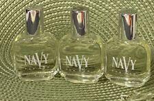 Lot Of 3 NAVY FOR MEN By Dana .5oz/15ml Eau De Cologne SPLASH Mini