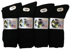Mens 12 Pairs Plain Cotton Rich Thick Washington Sport Socks - Black - Size 6-11