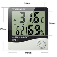 HTC-1 LCD Digital Thermometer Hygrometer Indoor Temperature Humidity Meter Clock