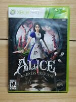 Alice: Madness Returns (Microsoft Xbox 360, 2011) No Manual Tested Wonderland