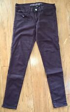 AMERICAN EAGLE OUTFITTERS AEO PLUM SZ 4 SUPER STRETCH JEGGING JEAN VGC
