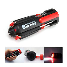 8 In 1 Slotted Screwdriver Craftsman Repair Tools Set Kit With Led Lights Torch