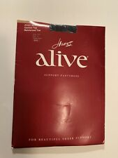 Hanes Alive Full Support Control Top Reinforced Toe Size A Style 810 Pantyhose