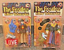 LOT Beatles Yellow Submarine McFarlane Figurines John & Jeremy Paul & Love Glove