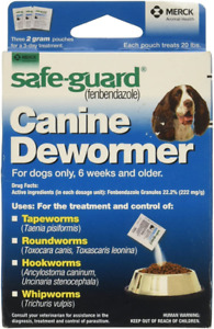 Safe-Guard (fenbendazole) Canine Dewormer for Dogs, 2gm pouch (ea. pouch...