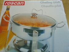 Roscan Large Round Chafing Dish, Stainless Steel