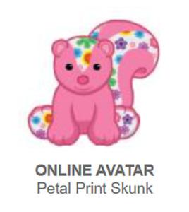 Webkinz Classic Petal Print Skunk *Code Only*