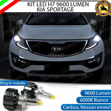 KIT FULL LED H7 CANBUS KIA SPORTAGE SL 6000K BIANCO 9600 LUMEN 80W NO ERROR