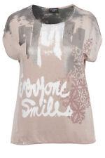 Damenblusen, - tops & -shirts mit Rundhals-Ausschnitt aus Viskose in Größe 48