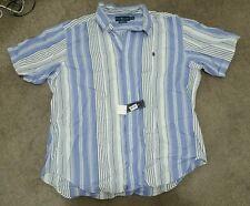 RALPH LAUREN CLASSIC FIT DRESS SHIRT STRIPED W/SIGNATURE PONY MENS