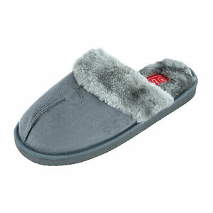 New Easy USA Men's Classic Slip On Slippers with Plush Insole