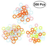 300pcs Locking Stitch Marker Lock Pins Ring Plastic Markers for Crochet Knitting