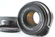 [N.Mint +Hood] Late Model Minolta M Rokkor 40mm f2 Lens Leica M for CL CLE JAPAN