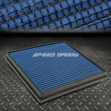 FOR CHEVY CRUZE/BUICK VERANO BLUE REUSABLE/WASHABLE DROP IN AIR FILTER PANEL