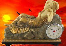 Tischuhr Reise Uhr Kaminuhr Polystein Eos GOLD farbig Kamin Uhr Frau Zeitzeugin1